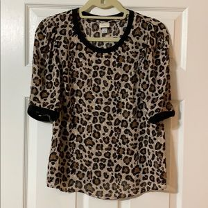 A New Day from Target leopard print top. Size S.